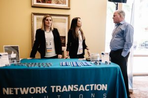 network transaction solution booth at event